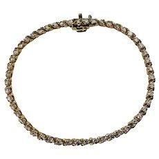 Vintage 14 Karat Yellow Gold Diamond Tennis Bracelet 2.04 TCW.