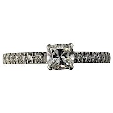 Vintage Tiffany & Co Novo Platinum Diamond Engagement Ring Size 6