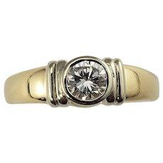 Vintage 14 Karat Yellow Gold Diamond Engagement Ring Size 9