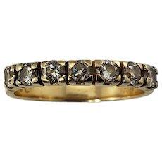 Vintage 14 Karat Yellow Gold Diamond Wedding Band Ring Size 6