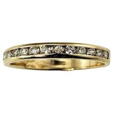 Vintage 14 Karat Yellow Gold Diamond Wedding Band Ring Size 5.25