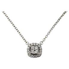 Vintage 18 Karat White Gold Diamond Pendant Necklace