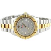 TAG Heuer Professional 200m WK1120-0 Men's Two Tone Watch Silver Dial