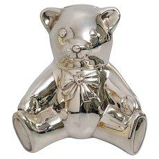 Tiffany & Co Sterling Silver Teddy Bear Coin Piggy Bank