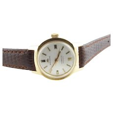 1960's Movado for Tiffany & Co. Queenmatic 14K Yellow Gold Ladies Handwinding Watch