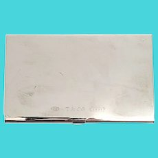 Vintage Tiffany & Co Sterling Silver 1837 Business Card Holder