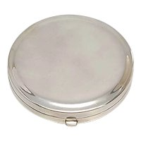 Vintage Tiffany & Co Sterling Silver Round Mirror Compact