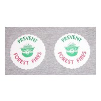 Vintage Smokey the Bear Coasters Set of 2 1960's