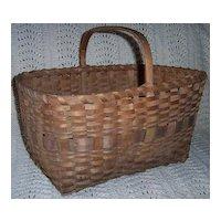 Wooden Splint Gathering Basket