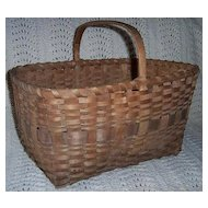 Wooden Splint Gathering Basket