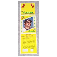 Reggie Jackson Sprite Bottle Hanger Baseball Card