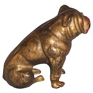 Hubley Cast Iron Seated Bulldog Bank