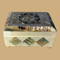 Mother-of-Pearl and Abalone Trinket Box