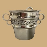 Continental Silver Plated Ice Bucket with Tongs