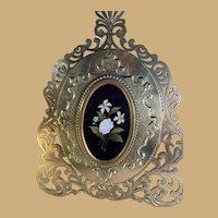 Bronze Frame with Pietra Dura Plaque