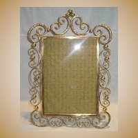 English Brass Ring and Ball Frame