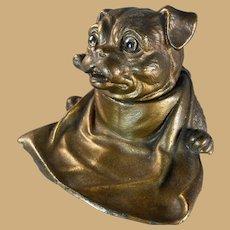Jennings Bros. Metal Dog Inkwell/Inkstand