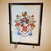 Handpainted Heraldic Plaque