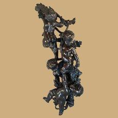 Black Forest Putti/Cherub/Cupid Decorative Figural Carving