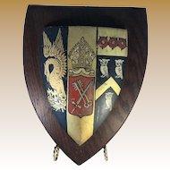 English Heraldic Plaque - Corpus Christi - Oxford University