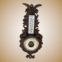 Black Forest Barometer with Eagle and Deer.