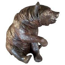 Black Forest Sitting Bear Figure