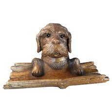 Black Forest Dog Inkwell/Inkstand
