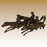 Bronze Grouping of Galloping Horses with Jockeys