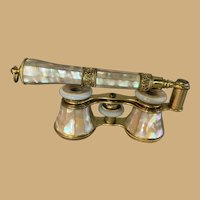 Mother-of-Pearl Opera Glasses with Lorgnette