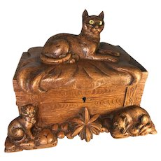 Black Forest Box with Cats