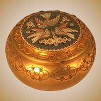 Italian Gilt Brass Mosaic Box