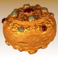 Gilt Brass Austro-Hungarian Egg Shaped Casket