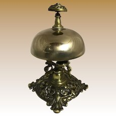 Edwardian English Brass Desk Bell