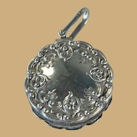 Chatelaine Pincushion - English Sterling - Birmingham 1900