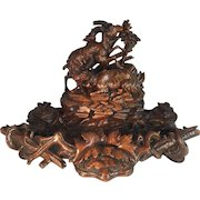 Black Forest Chamois inkstand
