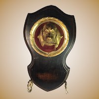 Gilt Brass Dog Pocket Watch Holder