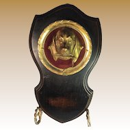 Gilt Brass Dog Pocket Watch Holder