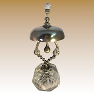 Ladies Brass Desk Bell with Crystal Base