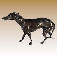 Patinated Metal Italian Greyhound