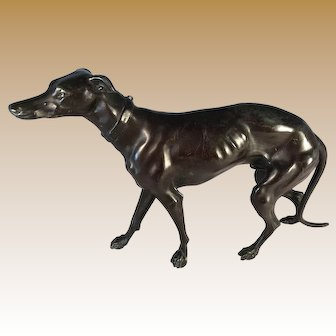 Patinated Metal Italian Greyhound