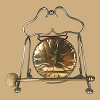 Brass and Silverplate Table Gong