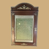 French Wood and Brass Photo Frame