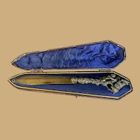 Bronze Letter Opener in Leather Case