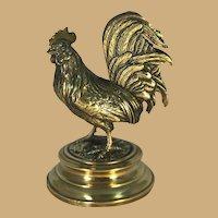 Bronze Chicken Letter Rack on Brass Base