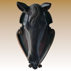 Black Forest Carved Horse Head