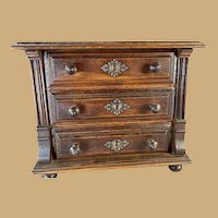 English Mahogany Miniature Chest of Drawers