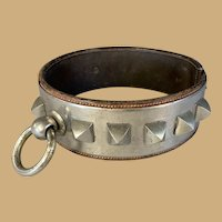 Leather and Metal Dog Collar