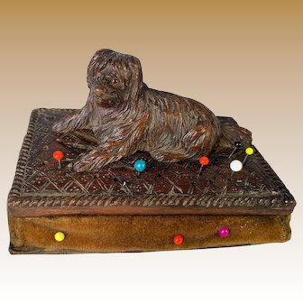 Black Forest dog Pincushion