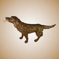 Painted Metal Retreiver Dog Pocket Watch Holder