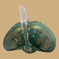 Venetian Glass Basket - Hand Blown and Enameled